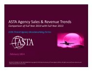ASTA Agency Sales & Revenue Trends