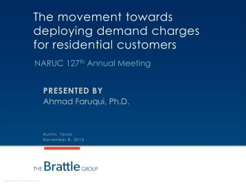 The movement towards deploying demand charges for residential customers