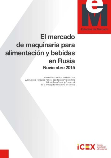 El mercado de maquinaria para alimentación y bebidas en Rusia