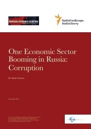 One Economic Sector Booming in Russia Corruption