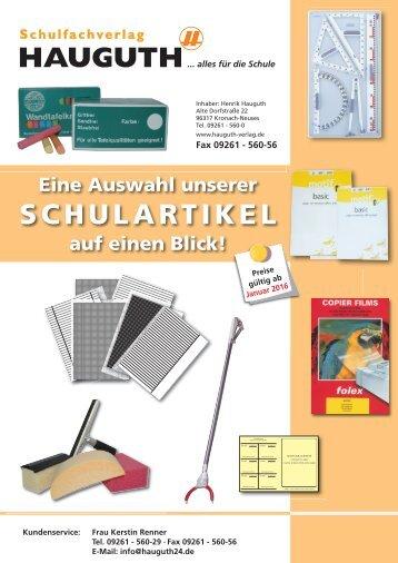 SCHULARTIKEL Hauguth-Verlag 2015