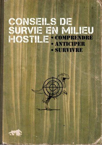 CONSEILS DE SURVIE EN MILIEU HOSTILE
