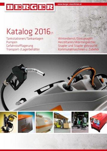 BERGER Maschinen Katalog 2016-1