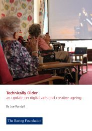 Technically Older an update on digital arts and creative ageing