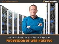 Características Para Elegir tu Web Hosting en México