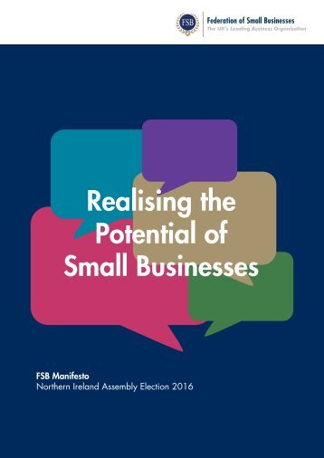Realising the Potential of Small Businesses