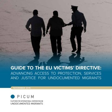 GUIDE TO THE EU VICTIMS' DIRECTIVE
