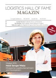 Logistics Hall of Fame Magazin 2015