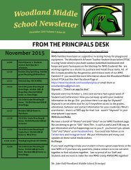 Woodland Middle School Newsletter