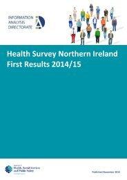 Health Survey Northern Ireland First Results 2014/15