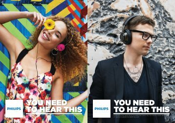 Philips Cuffia stereo Bluetooth - Product Brochure - ENG