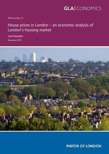 House prices in London – an economic analysis of London's housing market