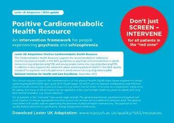 Positive Cardiometabolic Health Resource