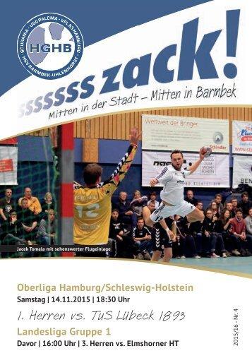 Ssssssszack! HGHB vs. TuS Lübeck