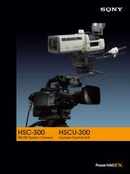 HSC-300 HSCU-300 - Sony Professional Solutions Asia Pacific