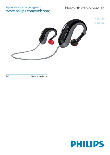 Philips Cuffie stereo Bluetooth - Istruzioni per l'uso - DEU