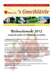 Weihnachtsmarkt 2012 verspricht wieder ein ... - Suedlicht GmbH