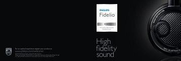 Philips Fidelio Cuffie wireless Bluetooth® - Product Brochure - KOR
