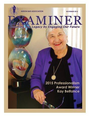 ABA Examiner Magazine November 2015