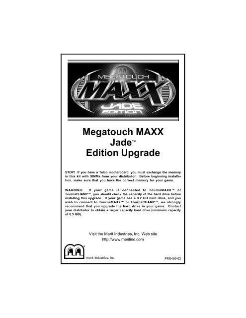 Megatouch Maxx Ruby Manual