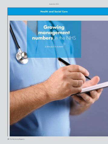 Growing management numbers in the NHS