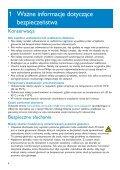 Philips Lettore audio con memoria flash - Istruzioni per l'uso - POL - Page 4
