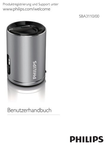 Philips SoundShooter Altoparlante portatile - Istruzioni per l'uso - DEU