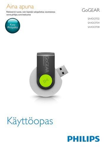 Philips GoGEAR Lettore MP3 - Istruzioni per l'uso - FIN