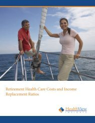 Retirement Health Care Costs and Income Replacement Ratios