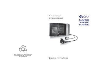 Philips GoGEAR Lettore MP4 - Istruzioni per l'uso - LIT