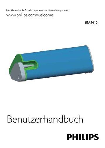 Philips Altoparlante portatile - Istruzioni per l'uso - DEU