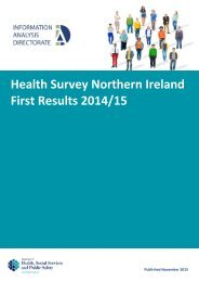 Health Survey Northern Ireland First Results 2014/15