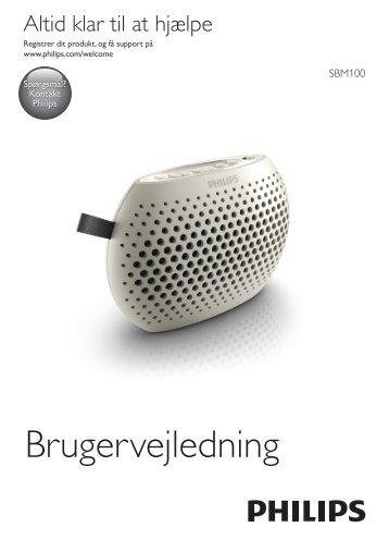 Philips Altoparlante portatile - Istruzioni per l'uso - DAN