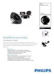 Philips Altoparlante portatile - Scheda tecnica - ITA