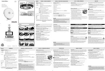 Philips Lettore portatile CD-MP3 - Istruzioni per l'uso - SLK