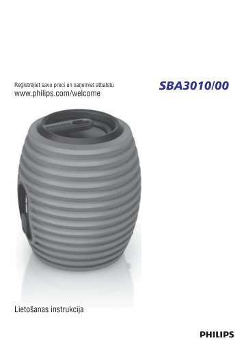 Philips SoundShooter Altoparlante portatile - Istruzioni per l'uso - LAV