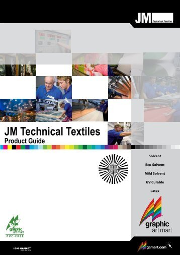 JM Technical Textiles Product Guide - Graphic Art Mart