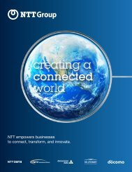 NTT empowers businesses to connect transform and innovate