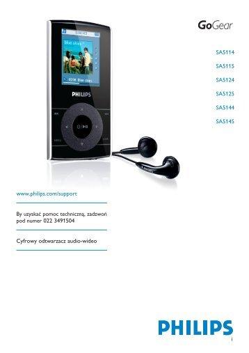 Philips GoGear Lettore audio con memoria flash - Istruzioni per l'uso - POL