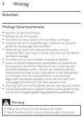 Philips Altoparlante portatile - Istruzioni per l'uso - DEU - Page 7