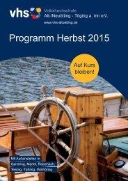 vhs-Programm Herbst 2015