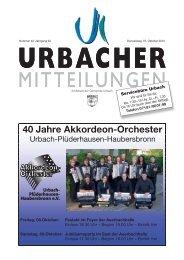 40 Jahre Akkordeon-Orchester - Gemeinde Urbach