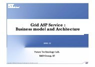 Grid ASP Service : Business model and Architecture - Grid@Asia