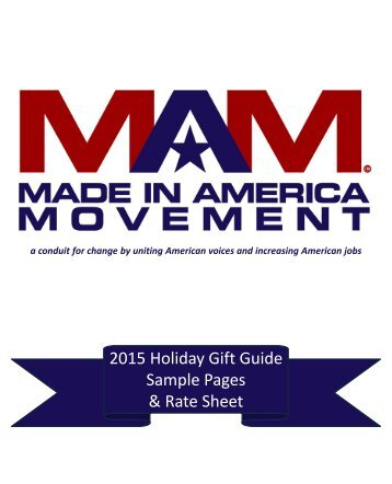 2015 Holiday Gift Guide Sample Pages & Rate Sheet