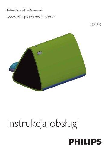 Philips Altoparlante portatile - Istruzioni per l'uso - POL