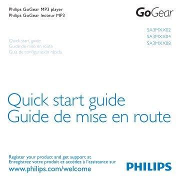 Philips GoGEAR Lettore MP3 - Guida rapida - FRA