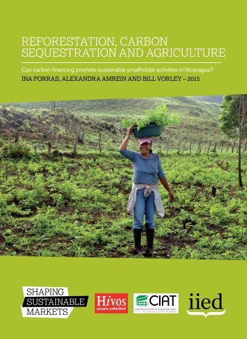 Reforestation carbon sequestration and agriculture
