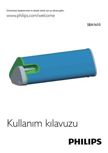 Philips Altoparlante portatile - Istruzioni per l'uso - TUR