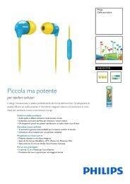 Philips Cuffia auricolare con microfono - Scheda tecnica - ITA