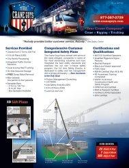 """877•357•2729 """"Your Crane Company"""" 3D Lift Plans"""